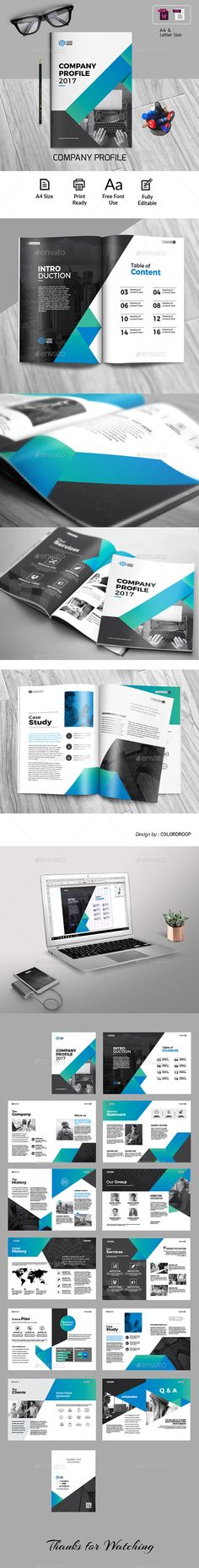 Clean and Professional Company Profile Template InDesign INDD - 16 - professional profile template