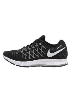 Nike Performance AIR ZOOM PEGASUS 32 - Chaussures de running avec amorti - black/white/pure platinum noir.