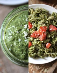 Hemp seed basil pesto Pair this hemp seed pesto with zucchini noodles for a perfect clean meal.  You'll get protein from the hemp seeds, as well as heart-healthy fatty acids.  Serve with a side salad, and you've got an amazing meal 3 cups fresh basil 1/2 cup hemp seeds (shell-free) 3 tablespoons lemon juice 3 garlic cloves 1/2 tablespoon black pepper 1/2 teaspoon salt 1/2 cup olive or grapeseed oil