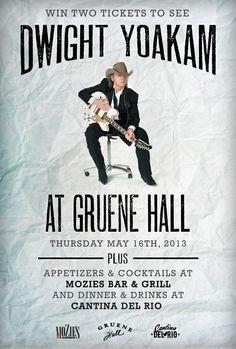 Win tickets to Dwight Yoakam at Gruene Hall! http://woobox.com/qfqek4