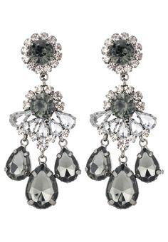 sweet deluxe BURGAS - Oorbellen - gunmetal/black diamond/crystal - Zalando.nl