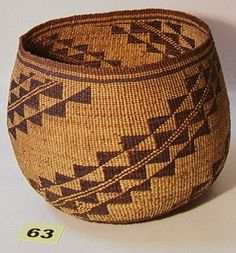 California Basket. Native American Indian Basket.