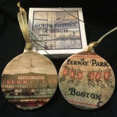 Porcelain Ornament Boston Ornaments Red Sox by CobblestoneAndBirch