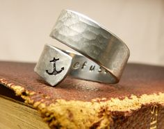 I Refuse to Sink Ring  Anchor  Adjustable by fromtheinternet, $10.00