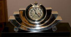 Art Decó Silver Clock (c.1930) by Tiffany & Co.