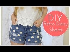 DIY Daisy Shorts!  I could wear these all summer :D