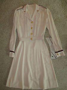WWII Army WAC ANC Nurse Corps Officer Summer Beige Dress Uniform Belt Cap | eBay Nursing Pictures, Flight Nurse, Vintage Nurse, Medical Scrubs, Military Women, Beige Dresses, Vintage Photography, Fashion Outfits, Womens Fashion