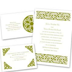 Celtic Bonds - Separate and Send Invitation like the celtic, don't like the wording