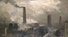 Holmes, Charles, (1868-1936), The Wood Lane Power Station, London, 1907, Oil