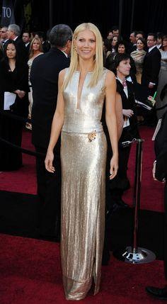 Liquid Gold Gwyneth. One of my favorite Oscar dresses ever!