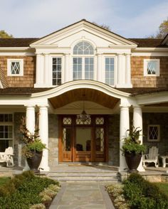 Shingled Home Entry Exterior - traditional - exterior - dc metro - Rill Architects
