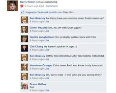 Harry Potter humor.   Oh, Drarry fangirls.