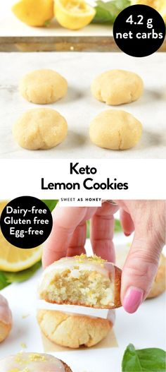 Cookies – The Keto Diet Recipe Cafe Lemon Cookies Easy, Buttery Cookies, Keto Snacks, Healthy Desserts, Dessert Recipes, Low Carb Keto, Low Carb Recipes, Diet Recipes, Galletas Keto