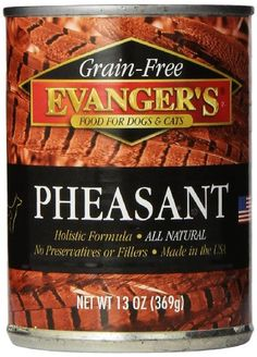 EVANGER'S 12-Pack Grain Free Pheasant for Dogs and Cats, 13-Ounce ** Read more  at the image link.