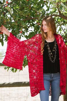 The Expansive Kimono is made in a series of rectangles that are easy to crochet as you go. They are then joined together using a crochet chain seam. It's part of the Contemporary Cardigans story in Interweave Crochet Spring 2017—check it out!