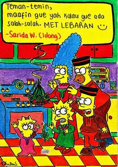 Sarida Wardani's the Simpons family.