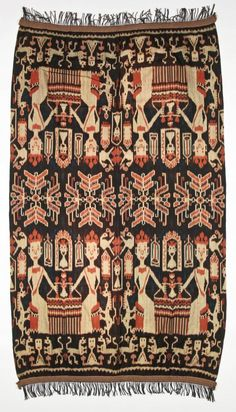 Sumba Ikat, Indonesia, early century 52 x x 224 cm) via Material Culture : lot 410 Textile Patterns, Textiles, Ikat, Bellisima, Bohemian Rug, Things To Come, Culture, Bird, Cloths