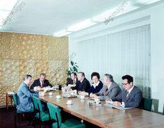 Direktionskonferenz des Chemie-Außenhandelsbetriebes. Foto, 1974.