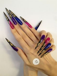 Long Stiletto - Nail Art Gallery