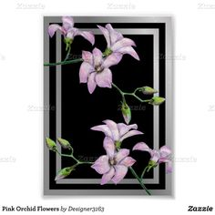 Pink Orchid Flowers Poster ($8.15) ❤ liked on Polyvore featuring home, home decor, wall art, paper wall art, pink poster, framed posters, pink home decor and pink wall art