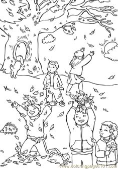 Catching leaves coloring page - Free Printable Coloring Pages Adult  Coloring Pages 0398a01793
