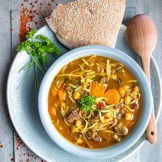 Marocká polévka Harira - recept krok 8 Soup Recipes, Cooking Recipes, Modern Food, Soups And Stews, Tofu, Ramen, Chili, Food And Drink, Vegetarian