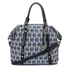 MK logo monogram jacquard with leather trim Dual handles with a buckle-adjustable shoulder strap Flat bottom with feet to protect bag when set down Top-zip closure Print-lined interior features a back-wall zip pocket, multifunctional slip pockets and a key fob