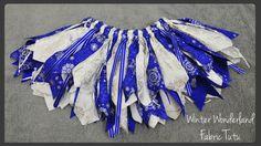 Custom Blue Christmas Fabric Tutu - Winter Themed Tutu - Holiday Tutu - Christmas Photo Tutu - Santa Photo Tutu -  Photo Prop Tutu - pinned by pin4etsy.com
