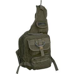 EuroSport Cargo Sling Backpack Olive Canvas Get Home Bag
