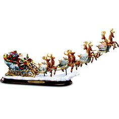 Thomas Kinkade Santas Sleigh Illuminated Figurine The Night Before Christmas by The Bradford Exchange -- Find out more about the great product at the image link.