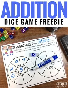 If you're looking for a fun way to practice addition facts, introduce your students to Training Wheels. Students can play this game over and over again with different results. There are two levels included in this freebie.
