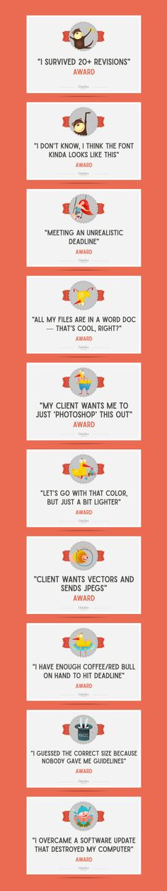 On the Creative Market Blog - 10 Awards Everyone Facing a Deadline Deserves