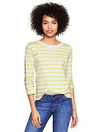 Marled stripe sweatshirt
