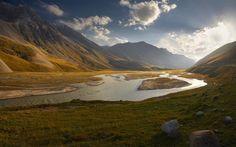 The Pamir Mountains, Kyrgyzstan