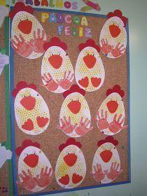 Estas foram as galinhas que fiz com os meus meninos o corpo da galinha foi feito com a técnica da carimbagem com plástico de bolinhas e as p...