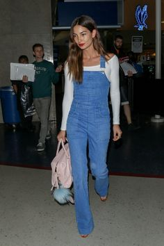 Pin for Later: These Stars Prove That Dungarees Aren't Just For Kids '70s Flares: Lily Aldridge
