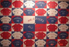 Beginning of the Year display or use to call on students with their number on the back of the jersey.