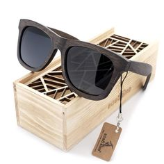 75086a686a159f Natural Wooden Frame Men s Polarized Sunglasses With Gift Box – Pipeline  Shades Wooden Sunglasses, Reflective