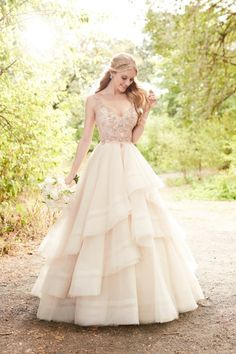 Utterly Blown Away By This Gorgeous Rose Gold Bridal Gown From Ysa