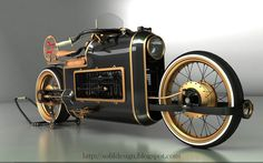 He's designed a number of different motorcycles and trikes, and even dreamt up a pretty wild steampunk car.