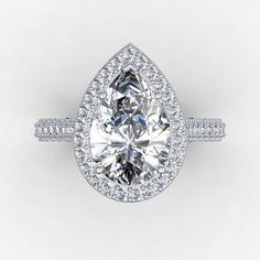 VIDEO AVAILABLE, https://youtu.be/XAmJCIAkuAI This is shown with genuine diamond center , PRICED for moissanite center MATCHING WEDDING BAND SOLD FOR $1790 additional. This ring can also be worn as a beautiful and elegant cocktail ring and is a perfect Anniversary gift, Wedding