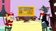 Tom and Jerry Fine dining with the ladies. New Tom And Jerry, Tom Und Jerry, Joseph Barbera, William Hanna, Warner Bros, Family Guy, Animation, Fictional Characters, Fine Dining