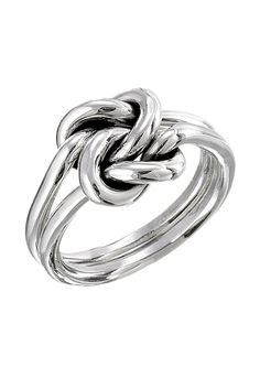 See more Double knot silver rings for ladies