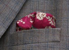 Antique Rose Boardwalk Empire Pocket square silk with contrast edge. by ModernRenaissanceMan, $15.00