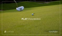 """""""A rough day on the golf course still beats a good day at the office…"""" It's time to  #PLAYmayakoba! #ElCamaleon"""