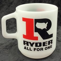Ryder Trucks All For One Coffee Cup Galaxy Oven Proof Souvenir Mug Vtg Logo #Ryder