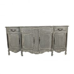 Shabby Chic -Server in a grey- blue distress- French style