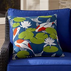 """Koi 20"""" Sq. Outdoor Pillow 