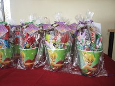 tinkerbell candy bag | Kisses and Crafts ... My Sweet Escape: Tinkerbell Themed Party