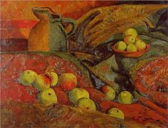 Still life with apples and jug - Paul Serusier